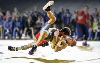 Dalton Roberts, a Greco-Roman wrestler and his opponent