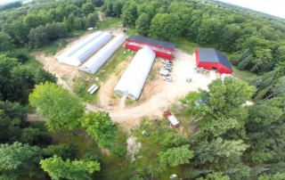 Aerial view of Miller farm